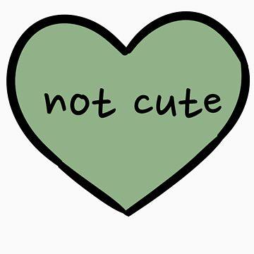 Sassy Heart–not cute–leaf green by salvva
