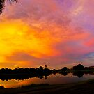 Sunset over Lake Zapper by Joe Manno