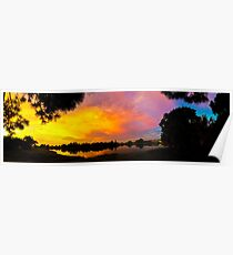 Sunset over Lake Zapper Poster