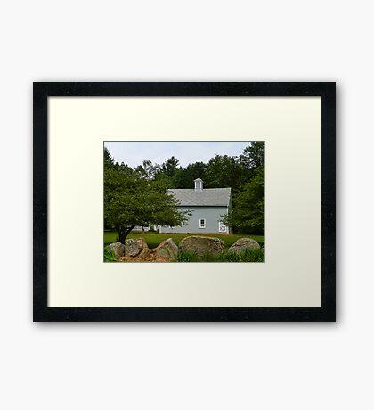 Beyond the Gray Barn Framed Print