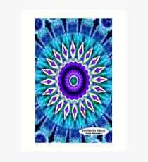 Blue and Purple Mandala Journal Art Print