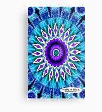 Blue and Purple Mandala Journal Metal Print
