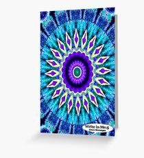 Blue and Purple Mandala Journal Greeting Card