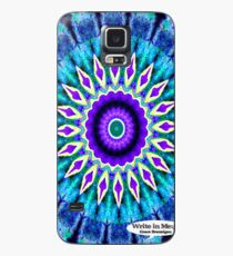 Blue and Purple Mandala Journal Case/Skin for Samsung Galaxy