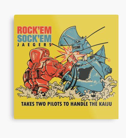 ROCK 'EM, SOCK 'EM JAEGERS Metal Print