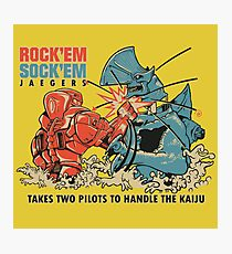 ROCK 'EM, SOCK 'EM JAEGERS Photographic Print