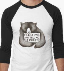Feed Me and Tell Me I'm Pretty Men's Baseball ¾ T-Shirt