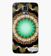 Black Gold Green Mandala Spiral Notebook Case/Skin for Samsung Galaxy