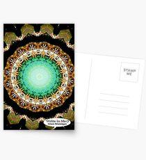 Black Gold Green Mandala Spiral Notebook Postcards