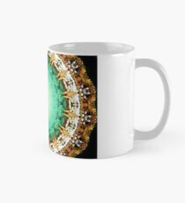 Black Gold Green Mandala Spiral Notebook Mug