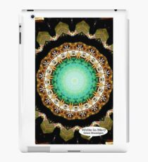 Black Gold Green Mandala Spiral Notebook iPad Case/Skin