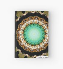 Black Gold Green Mandala Spiral Notebook Hardcover Journal