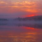 Dawn Skyfire at Round Lake by Alex Call
