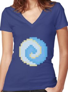 8bit Air Nomad Symbol 3nigma Women's Fitted V-Neck T-Shirt