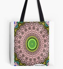 Pink Mandala Notebook and Journal Tote Bag