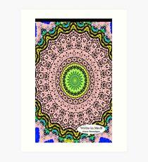 Pink Mandala Notebook and Journal Art Print