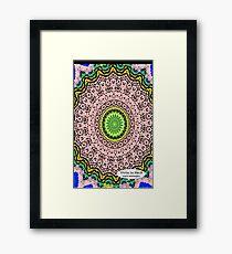 Pink Mandala Notebook and Journal Framed Print