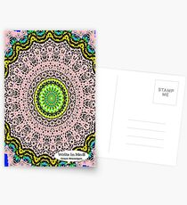Pink Mandala Notebook and Journal Postcards
