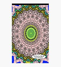 Pink Mandala Notebook and Journal Photographic Print
