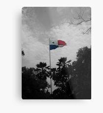 Panama Flag selective color Metal Print