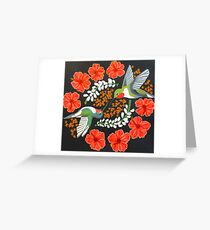 Hummingbird Mandala Greeting Card