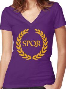 Camp Jupiter - SPQR Women's Fitted V-Neck T-Shirt