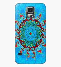 Blue Turquoise Orange and Red Mandala Case/Skin for Samsung Galaxy
