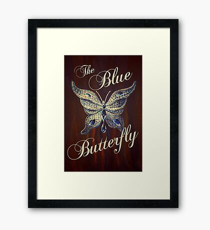 The Blue Butterfly Framed Print