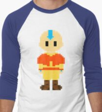 Avatar Last Airbender 8Bit Aang 3nigma Men's Baseball ¾ T-Shirt