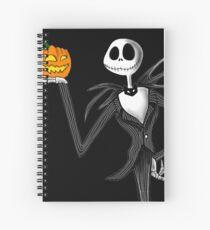 Jack Skellington and his pumpkin Spiral Notebook