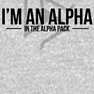 alpha in the alpha pack by funvee
