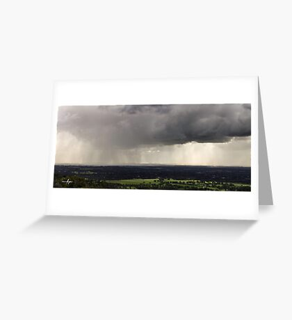 August Showers Greeting Card