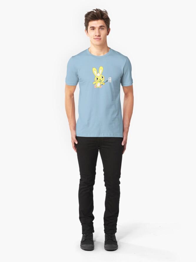 Alternative Ansicht von Happy Tree Friends - T-Shirt - Cuddles. Slim Fit T-Shirt