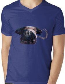 Burnt Telephone by Zorro Gamarnik Mens V-Neck T-Shirt