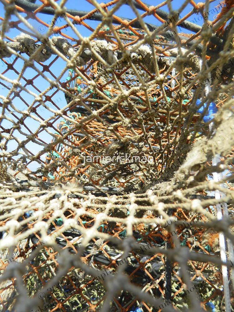 Cley Beach Crabpots Vortex  by jamierickman