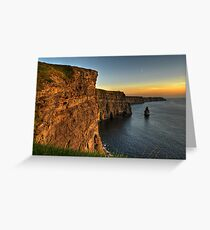 cliffs of moher scenic sunset landscape seascape ireland Greeting Card