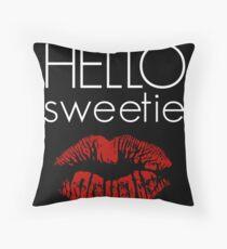 Hello, Sweetie Throw Pillow