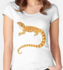 bearded dragon watercolour  Women's Fitted Scoop T-Shirt
