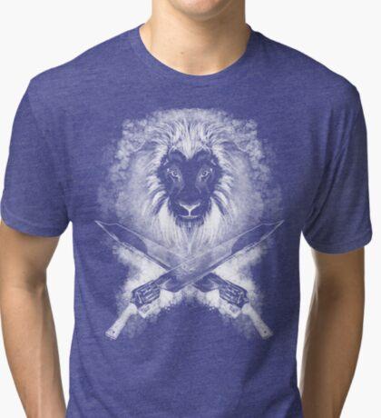Lion Heart (white) Tri-blend T-Shirt