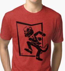 TWO-TONE SKUNK Tri-blend T-Shirt