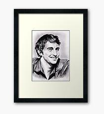 Lee Pace, charming smile Framed Print