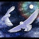 Snowy Owls by Red-wolf-Ink