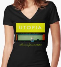 Utopia - T-Shirt - Where Is Jessica Hyde? Women's Fitted V-Neck T-Shirt