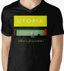 Utopia - T-Shirt - Where Is Jessica Hyde? Men's V-Neck T-Shirt