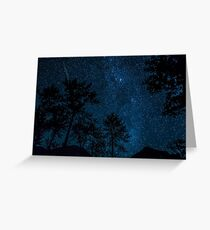 Double Meteorite on a Clear Starry Night  Greeting Card