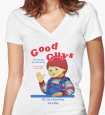 Good Guys Women's Fitted V-Neck T-Shirt