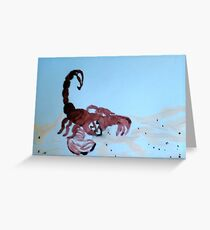 The Scorpian Greeting Card