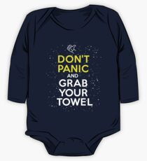 Don't Panic and Grab Your Towel One Piece - Long Sleeve