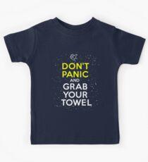 Don't Panic and Grab Your Towel Kids Tee