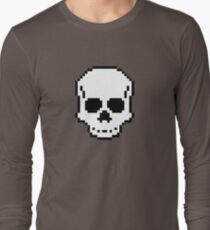 Pixel Skull Long Sleeve T-Shirt